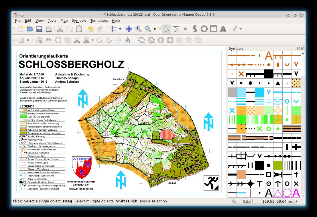 Mapper openorienteering an orienteering map in oo mapper 050 biocorpaavc