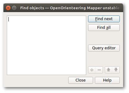 Find objects dialog