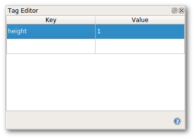 Tag editor window